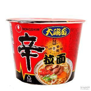 農心大碗香辛拉面桶裝批發 正宗韓國口味速食泡面117g*16桶箱裝