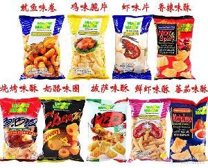 妙妙鱿鱼味卷 马来西亚进口膨化零食品小吃特产 50g 鸡味鲜 虾条