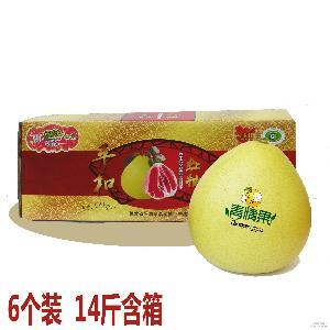 蜜柚之鄉6粒裝紅肉蜜柚青情果林方農產品一件代發包郵