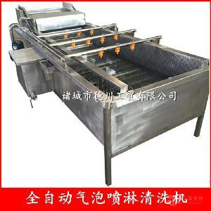 火锅原料清洗 气泡清洗机 德川蔬菜清洗机生产线厂家销售