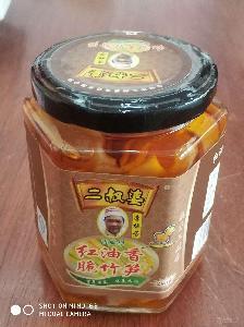 玉林二叔婆紅油香脆竹筍280克/瓶
