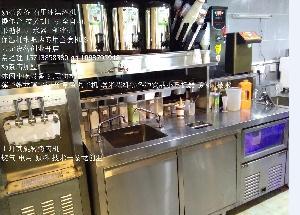 大型商用冰淇淋机价格 郑州奶茶店冰激凌机 奶茶设备