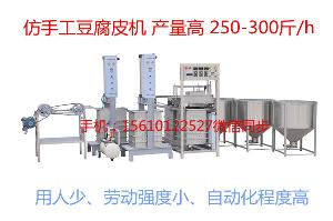 山东滨州豆腐皮机生产线 大型豆制品设备 全自动小型豆腐皮机