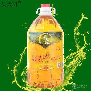 吴大厨山茶油5L家庭实惠装食用油茶籽油月子油孕妇宝宝月子油