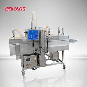博康网带式面包虾鱼排裹粉机裹粉鳕鱼排生产线