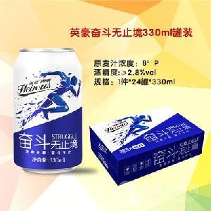 英豪奋斗无止境罐装啤酒330ml