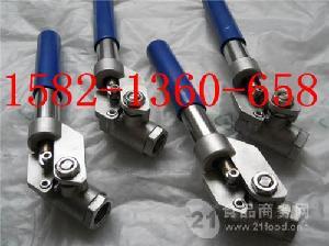 304二片式丝口弹簧自动复位/归位/回位球阀DN32