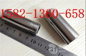 304不銹鋼100mm加長單頭外絲DN32DN50