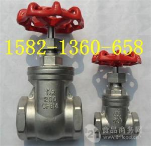304不銹鋼絲口閘閥Z15H-16P DN50DN80