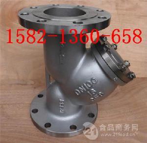 化工、石油专用304不锈钢Y型过滤器GL41W-16P DN100