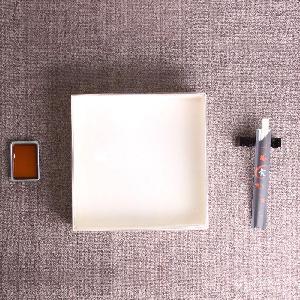 卡木龙木质包装盒 正方形超大号木质高档寿司盒