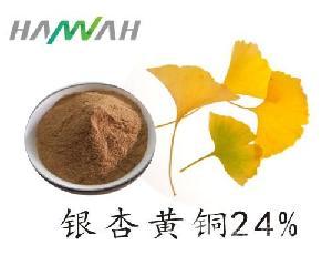 银杏叶提取物 银杏黄铜24% 6%银杏内酯 银杏叶粉