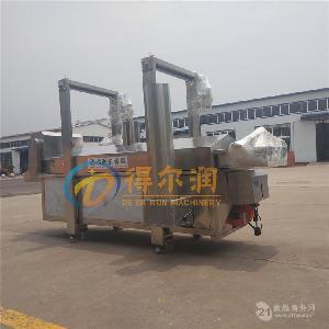 得尔润连续式DR5小白条鱼油炸机 (自动生产补油功能)高效