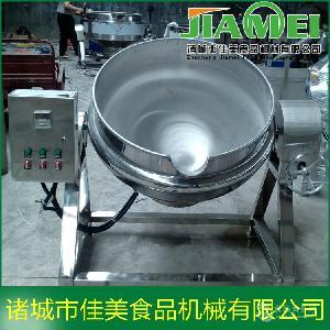 可倾夹层锅 电加热夹层锅 厂家直销带搅拌夹层锅 佳美