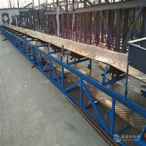 扬州帆布皮带输送机流水线 装车传送带