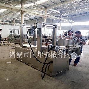 天津薄脆面皮油炸机 国邦机械供应省油油炸设备