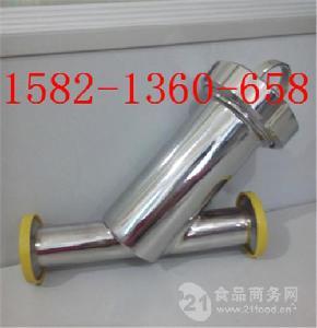 不锈钢304316L卫生级快装Y型过滤器(Φ38卡盘50.5)