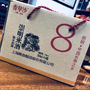 上海崇明米酒青草沙崇明米酒商特产8度500ml*6批发商
