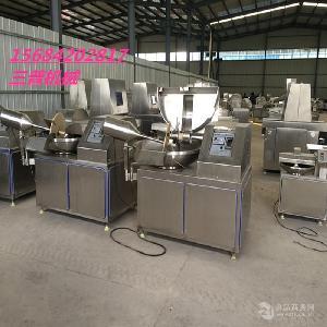 千页豆腐斩拌机厂家,诸城三普厂家直销各种型号斩拌机