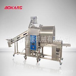 【厂家直销】鸡米花滚筒上粉机、裹粉机,鸡米花生产线成套设备