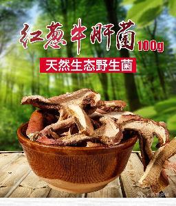 云南特产牛肝菌干货野生一级100g干片煲汤食用蘑菇红牛肝菌香菇