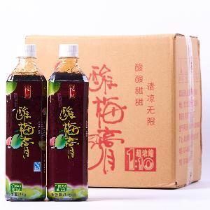 1箱包邮 恒记 酸梅膏1千克 10倍 浓缩酸梅汁 冲调饮品 12瓶批发