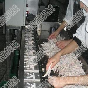 凤爪切割机不黏连无骨屑整齐分筐收料省人工节成本